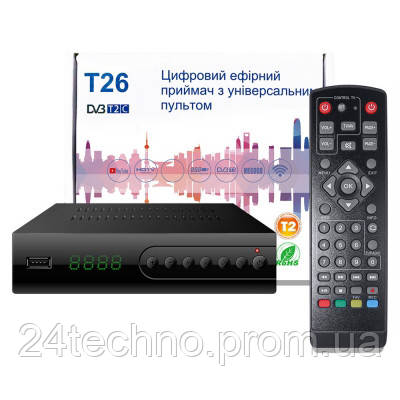 Цифровой эфирный тюнер Т26 (ресивер Т2/C)