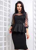 Изысканное платье с баской ниже колен, фото 1