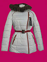 Куртка зима с натуральным мехом ассиметрия