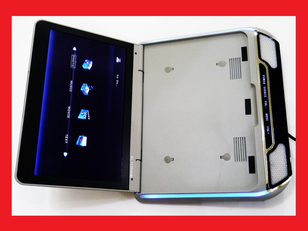 Автомобільний підвісний монітор AL-1139HDMI HD з USB/SD Тонкий корпус