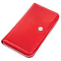Кошелек-клатч женский KARYA 17073 кожаный Красный, Красный, фото 1