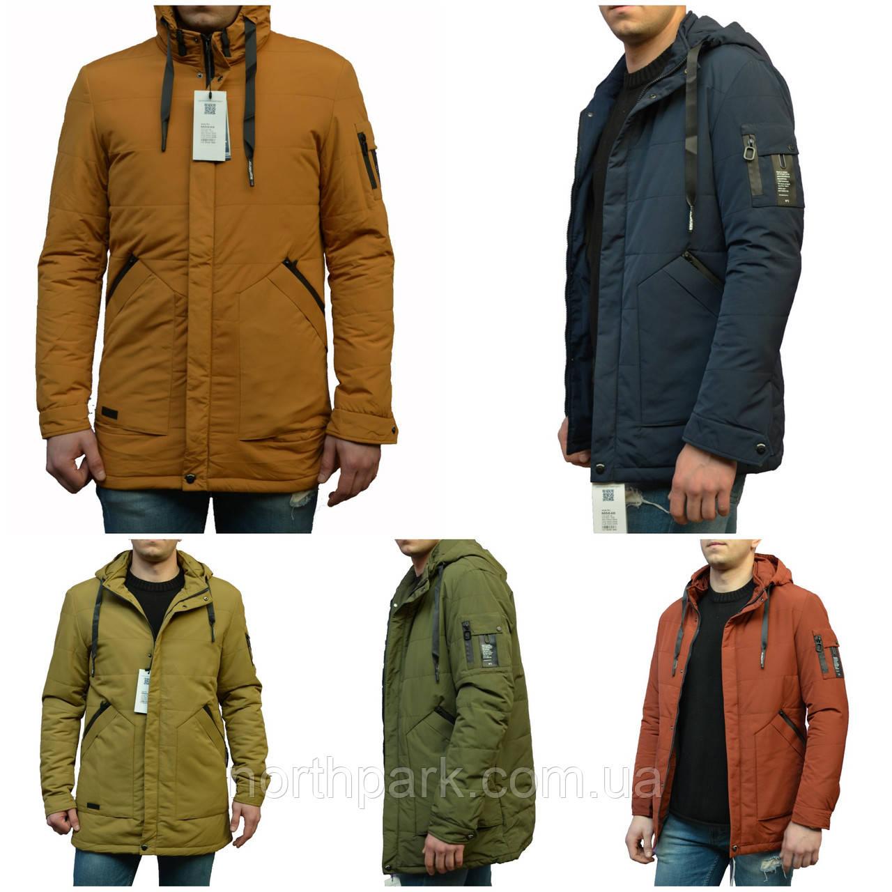 Чоловіча демісезонна куртка з фігурними кишенями