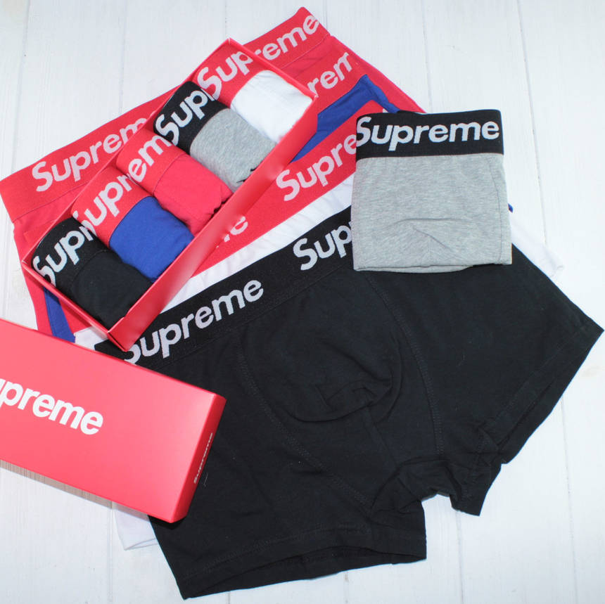 Трусы мужские боксеры нижнее белье в подарочной упаковке Supreme Суприм 5шт, фото 2