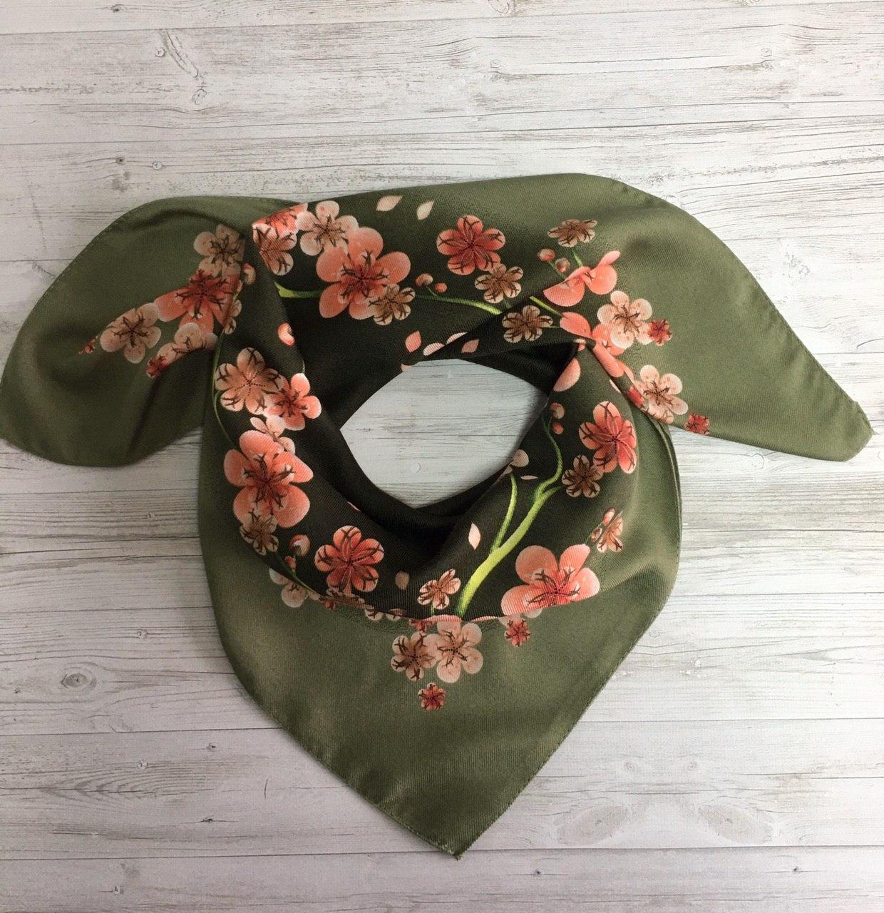 Женский шерстяной платок Орхидея