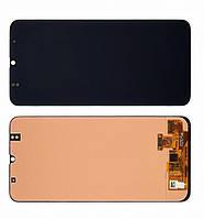 Дисплей модуль для Samsung A307 Galaxy A30s в зборі з тачскріном, чорний, оригінальний