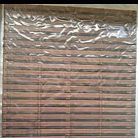Бамбуковые рулонные шторы плотное плетение  50/160