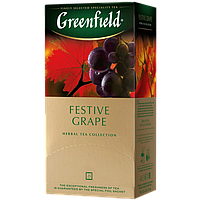 """Чай фруктовий у пакетиках Greenfield """"Festive Grape"""" 25шт Виноград"""
