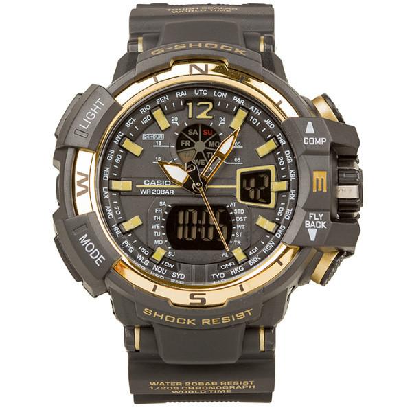 Спортивные наручные часы Casio G-Shock GWA-1100 Black-Gold Касио