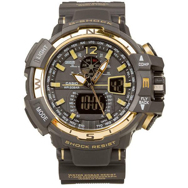 Спортивные наручные часы Casio G-Shock GWA-1100 Black-Gold Касио, фото 2