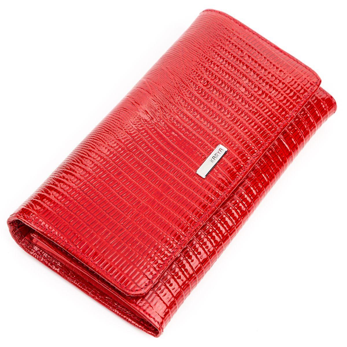 Кошелек женский KARYA 17153 кожаный Красный, Красный