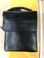 Чоловіча сумка через плече від фірми Polo шкіряний клапан опт/роздріб, фото 1