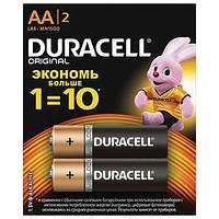 Батарейки пальчиковые Duracell AA LR06 2 шт