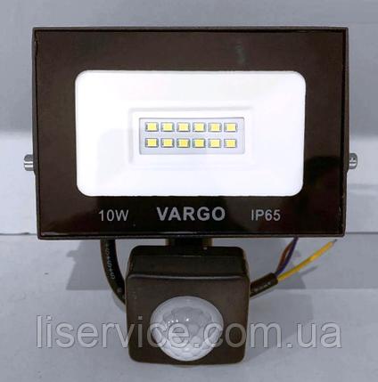 LED прожектор c датчиком движения VARGO 10W 220V 6500K (V-330310), фото 2