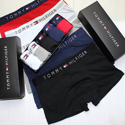 Мужские трусы боксеры шорты транки брендовые в подарочной упаковке хлопок 5 цветов 5шт в упаковке, фото 2