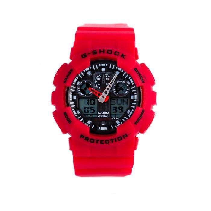 Спортивные наручные часы Casio G-Shock ga-100 Red Касио
