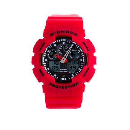 Спортивные наручные часы Casio G-Shock ga-100 Red Касио, фото 2