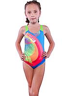 Гарний спільний купальник для дівчинки з малюнком Keyzi р-ри 122,164