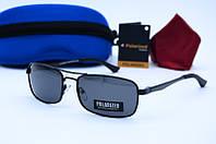 Солнцезащитные мужские очки прямоугольные с поляризацией 331 черн