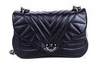 Итальянская женская сумка из натуральной кожи. Цвет: Черный, фото 1