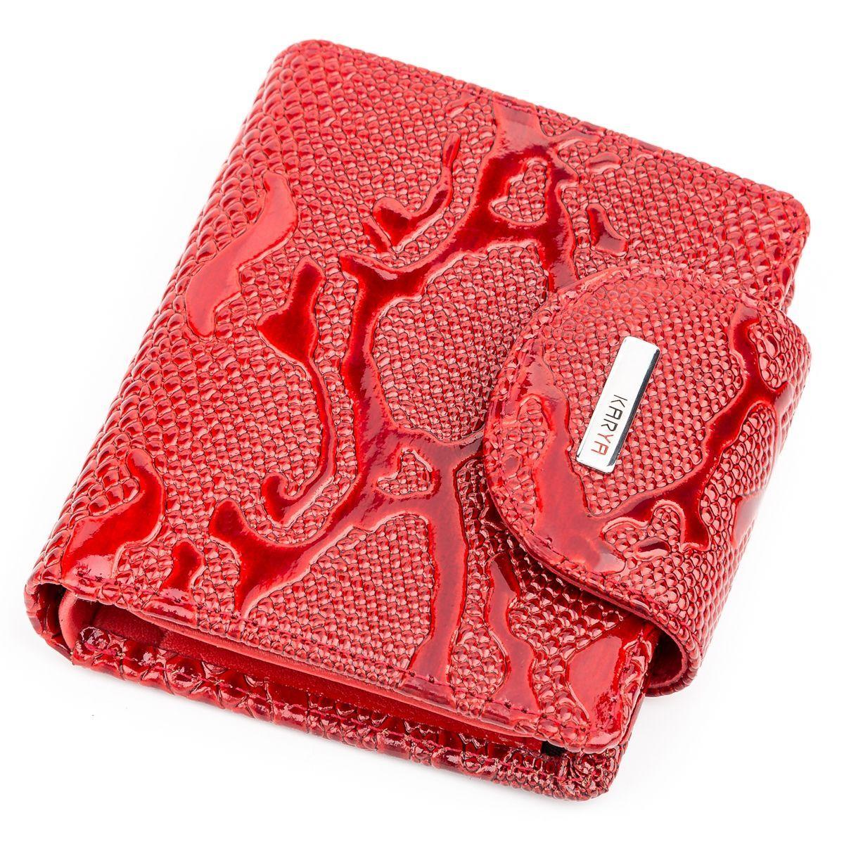 Кошелек женский KARYA 17166 кожаный Красный, Красный