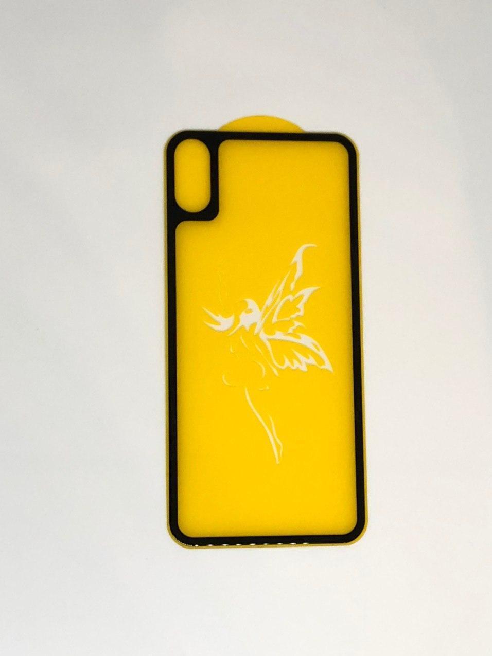 Стекло на корпус 6D  iPhone X - premium black (tempered glass)