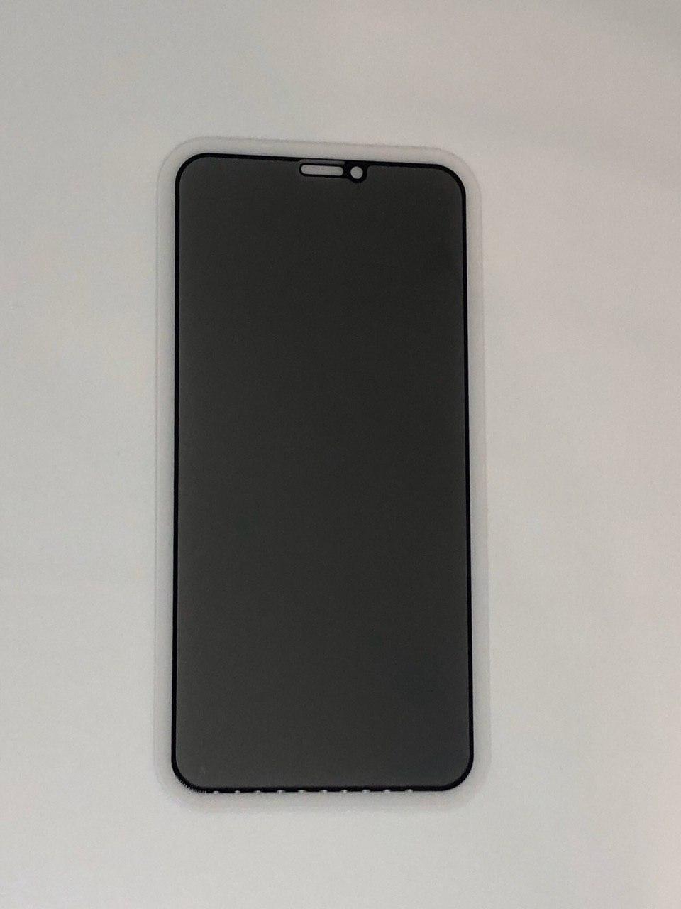 "Стекло ""Антишпион"" для iPhone Xs - black (privacy)"