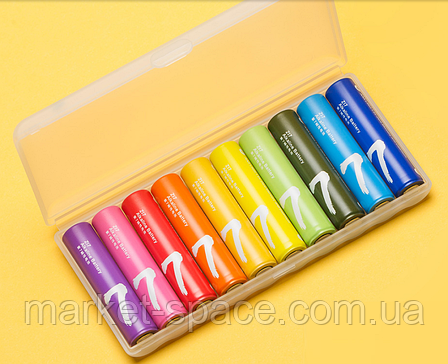 Батарейки Xiaomi ZMi Rainbow AAA batteries 10 шт в органайзере (NQD4001RT), фото 2