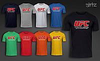 Спортивная Футболка мужская черная из хлопка  UFC