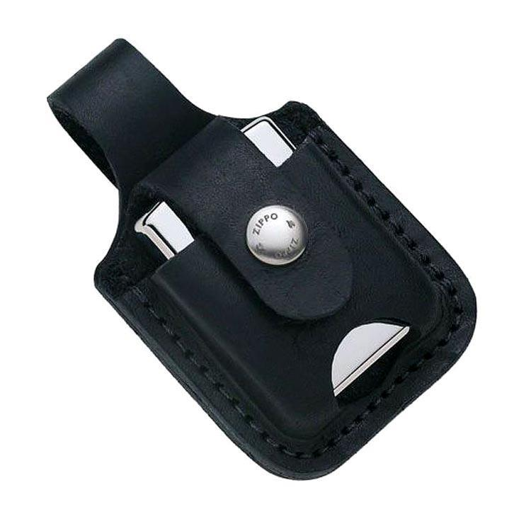 Чехол для зажигалок Zippo LPTBK черный с прорезью.