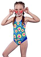Гарний спільний купальник для дівчинки з малюнком Keyzi р-ри 122,128,134,140,146,152,158,164