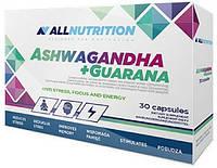 Адаптоген AllNutrition - Ashwagandha + Guarana (30 капсул)
