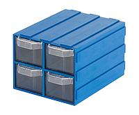 Выдвижной модульный ящик 304 (103*135*Н83мм) 4 ячейки, фото 1