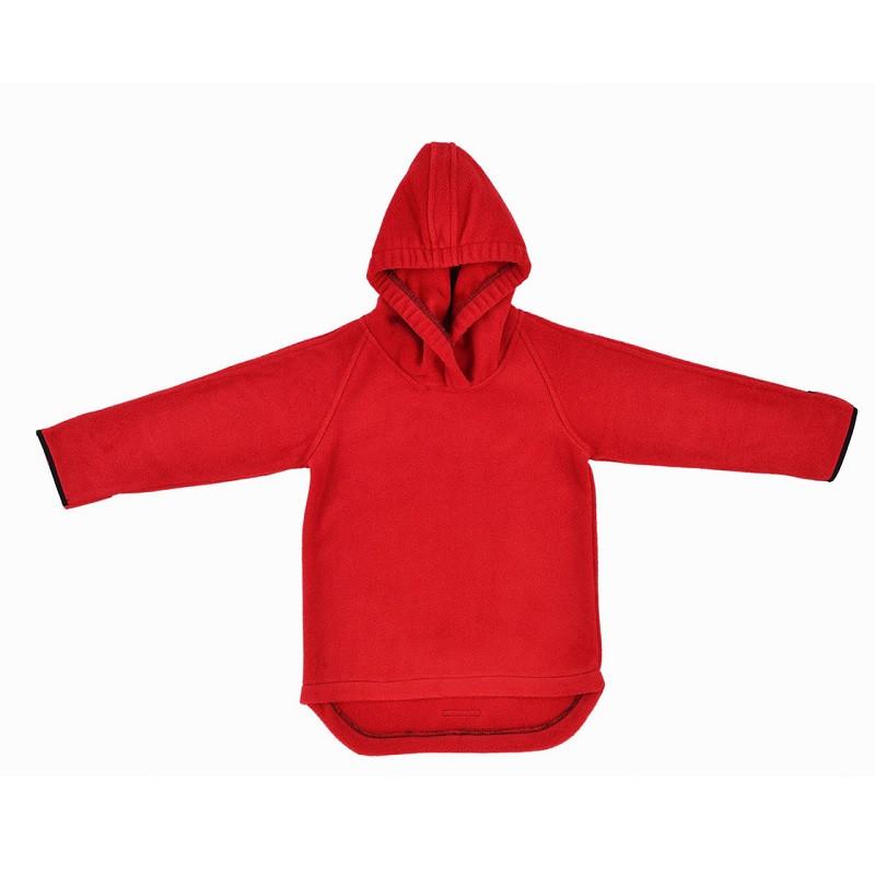 Джемпер флисовый HOPPEDIZ (размер 62-68, красный)