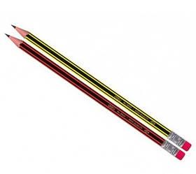 Олівець ч / г Deli 38037 мікс HB Шестигран з ласт зао смугастий