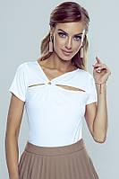 Блузка Nina Eldar белого цвета, коллекция весна-лето 2020