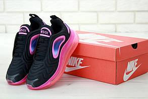 Женские кроссовки Nike Air Max 720 черно-розовые