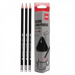 Олівець ч / г Deli 38029 черн HB трикутний з ласт зао