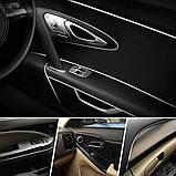 Стайлінг молдинг 3D стрічка для декору салону авто / Фіолетовий перламутр / 5м, фото 4