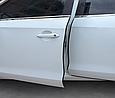 Усиленная защитная молдинг лента на кромку двери (торцевой молдинг) / Черный / 5м, фото 7