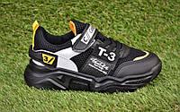 Модные детские кроссовки Adidas T-3 Black р31-35, копия