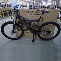 """Велосипед горный (MTB) Azimut Blackmount D 26 дюймов, рама 18"""" Black-Red , черно-красный"""