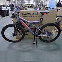 """Велосипед горный (MTB) Azimut Blackmount D 26 дюймов, рама 18"""" Серо-красный."""