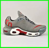 Кроссовки Мужские Nike Tn Air Max Plus OG Серые Найк (размеры: 41,42,43,44,45,46) Видео Обзор