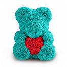 Мишка из роз с запахом, в подарочной коробке (40 см) 5 цветов, фото 4