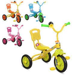 Детский трехколесный велосипед Bambi M 1190 удобное сиденье со спинкой