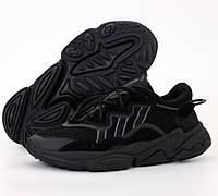 Мужские кроссовки Adidas Ozweego W Black рефлективные 41-45р. Живое фото. Реплика