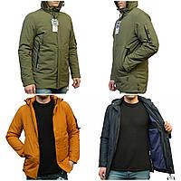 Чоловіча демісезонна куртка подовжена, фото 1