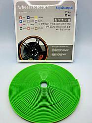 Защитная лента - молдинг на литые диски Wheel Pro / Зеленая / 7,6м