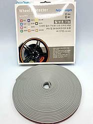 Защитная лента - молдинг на литые диски Wheel Pro / Серая / 7,6м