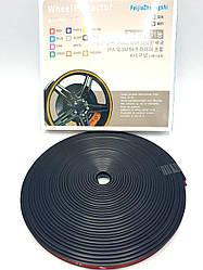 Защитная лента - молдинг на литые диски Wheel Pro / Черная / 7,6м